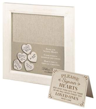 Lillian Rose Guest Signing Hearts Picture Frame