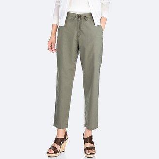 UNIQLO Women's Cotton Linen Relaxed Pants $29.90 thestylecure.com