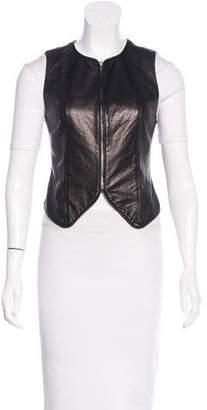 Alexander Wang Leather Zip-Up Vest