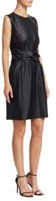 MSGM Women's Twist Waist Sleeveless Dress - Black - Size 48 (10)