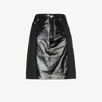 c5a5ce60a766 Helmut Lang five-pocket patent leather skirt