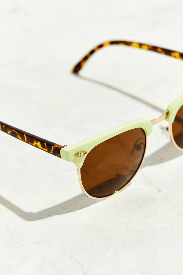 Glasses Frames Urban Outfitters : Urban Outfitters Skylar Half-Frame Sunglasses - ShopStyle ...