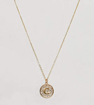 Ottoman Hands gold plated C initial pendant necklace