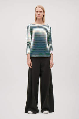 Cos WIDE-NECK STRIPED TOP