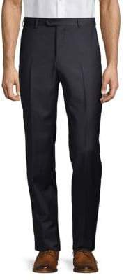 Armani Collezioni Solid Virgin Wool Trousers