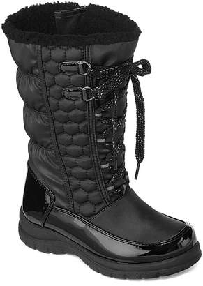 totes Little Kid/Big Kid Girls Kelly Water Resistant Winter Boots Lace-up