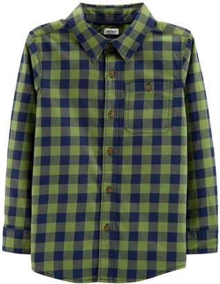 Carter's Boys 4-12 Checked Flannel Button Down Shirt