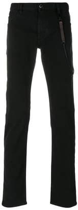 Emporio Armani chain detail jeans