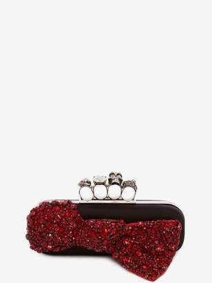 Alexander McQueen Skull Four Ring Box Clutch