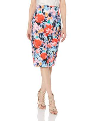 11f1a03f00 ECI New York Women's Printed Floral Scuba Pencil Skirt