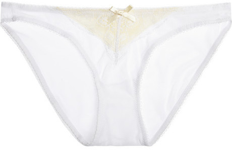 Elle Macpherson Intimates Gentle Jade lace and stretch-mesh briefs