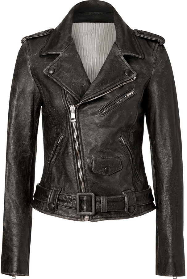 Each Other Black Vintage Lambskin Biker Jacket