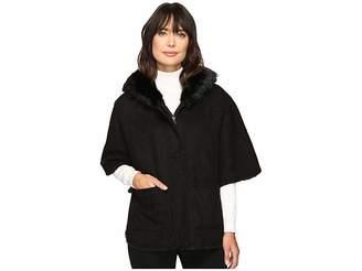 Lauren Ralph Lauren Cape Shearling Women's Coat