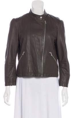 Rebecca Taylor Long Sleeve Leather Jacket