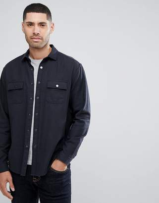 Asos Design Overshirt In Heavy Twill With Poppers