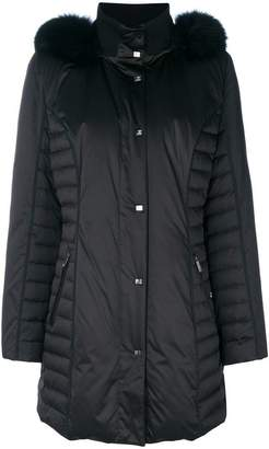 Guy Laroche fur-trimmed padded coat