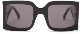 Celine Oversized Square Acetate Sunglasses - Womens - Black
