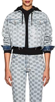 """Ksubi Women's Daggerz """"Fake"""" Denim Crop Jacket"""