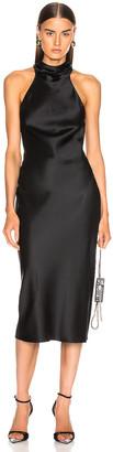 Cushnie Sleeveless High Neck Pencil Dress in Black   FWRD