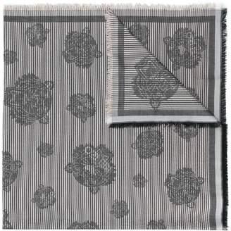 Kenzo Tiger patch scarf