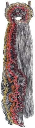 Rosie Assoulin waterfall ruffle silk gown