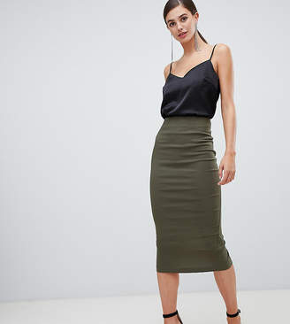 Asos DESIGN Tall High Waisted Longerline Pencil Skirt