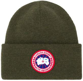 Canada Goose logo knitted beanie