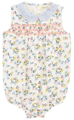 Boden Mini Smocked Floral Romper