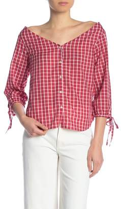 Madewell Marie Tie Cuff Blouse