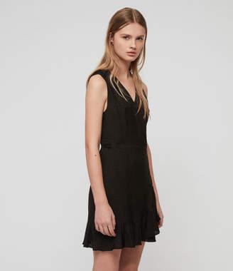 AllSaints Krystal Leopard Dress