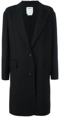 DKNY single breasted coat $776.16 thestylecure.com