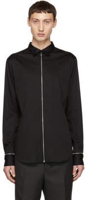 Alexander McQueen Black Poplin Zip Shirt
