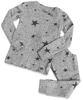 PJ Salvage Girls' Marled Star-Print Pajama Shirt & Pants Set - Little Kid
