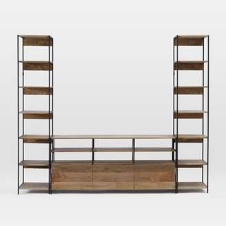west elm Industrial Modular Large Media Set With Bookshelves