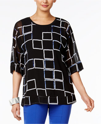 Alfani Dolman-Sleeve Chiffon Top, Only at Macy's $69.50 thestylecure.com
