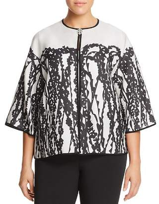 Marina Rinaldi Fashion Abstract Botanical Print Jacket