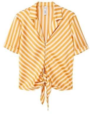 MANGO Knot detail flowy blouse