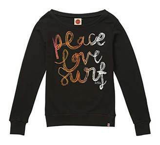 Hot Tuna Women's Peace Love SURF-Ladies Crew Sweat Sweatshirt,X-Small