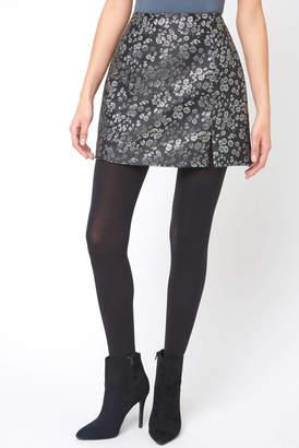 MinkPink Metallic Floral Mini Skirt