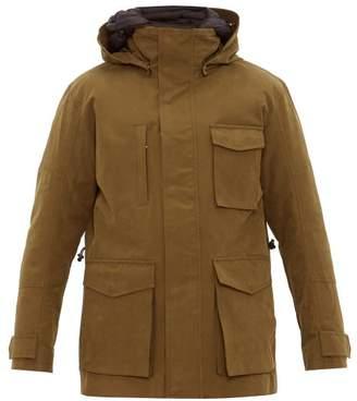 49 Winters - Layered Cotton Blend Gabardine Parka - Mens - Olive Green