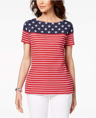 Karen Scott Americana Printed T-Shirt, Created for Macy's
