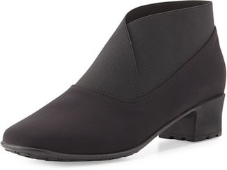 Sesto Meucci Yates Waterproof Stretch-Fabric Bootie, Black $325 thestylecure.com