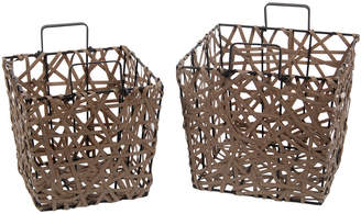 Privilege Set Of 2 Resin Wicker Baskets