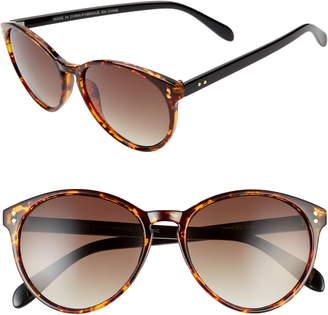BP Bookworm 53mm Gradient Round Sunglasses