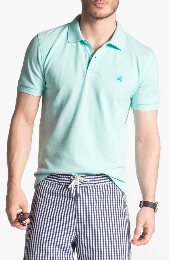 Brooks Brothers Slim Fit Polo Turquoise XX-Large