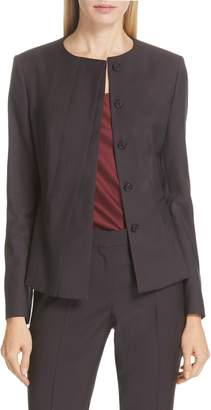 BOSS Jadela Mini Houndstooth Wool Suit Jacket