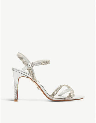 Dune Madalenna leather embellished heeled sandals