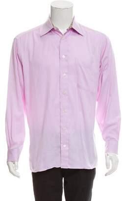Burberry Woven Button-Up Shirt