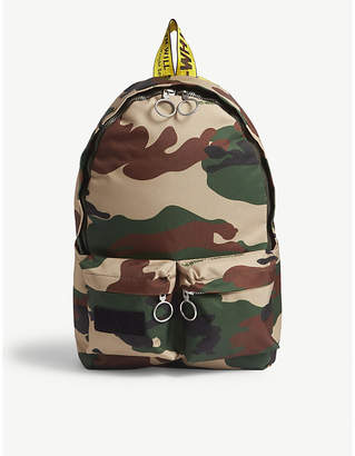Off-White Camouflage canvas backpack