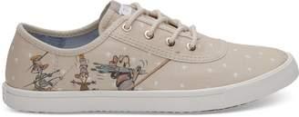 Disney X TOMS Taupe Gus & Jaq Women's Carmel Sneakers